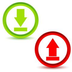Download upload icons set