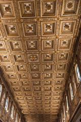 Gilded Panelled Ceiling in Basilica di Santa Maria Maggiore - Rome