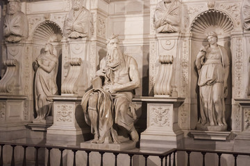 Michelangelo Moses Tomb of Pope Julius II - Rome