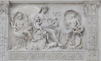Bas-Relief Detail Ara Pacis Augustae - Rome