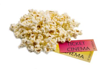 pop corn and cinema tickets