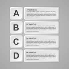 Abstract keyboard buttons infographic. Design element.