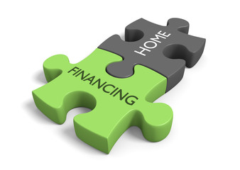 Home financing concept for real estate or house debt topics