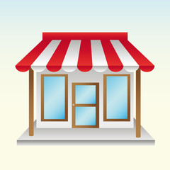opened a new store useful things with half striped awning