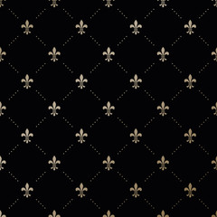 Seamless vector gold pattern with Fleur-de-lis