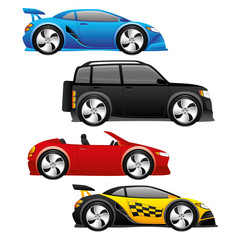 Vector set. Cars.