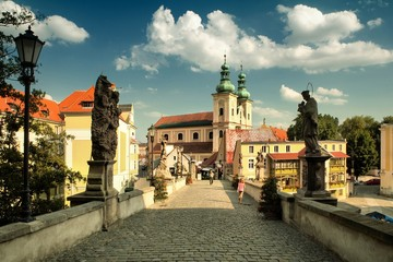 Historic bridge in Klodzko, Poland
