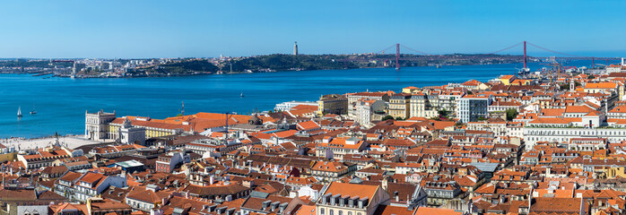 Fototapete - Lisbon Skyline