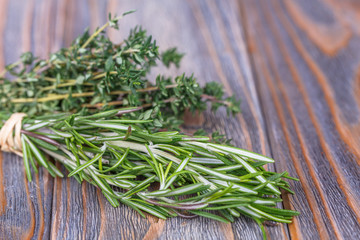 thyme, rosemary