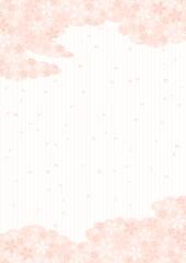 桜の雲と薄桃色の背景