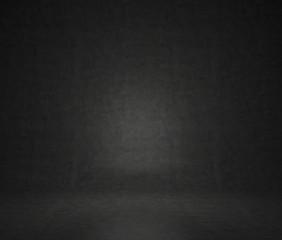 black concrete room