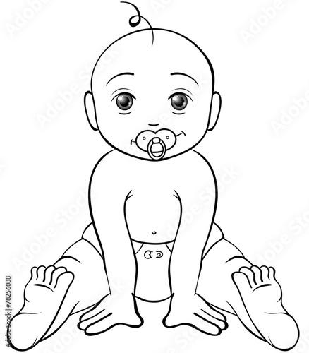 Freches Baby Ausmalbild Stockfotos Und Lizenzfreie Vektoren Auf