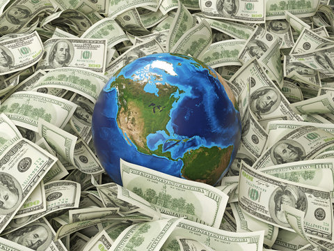 globe and hundred dollar