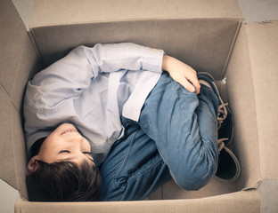 Having fun inside the box