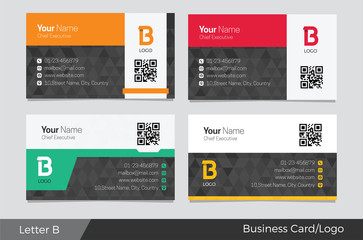 B Letter Logo Corporate  Business card