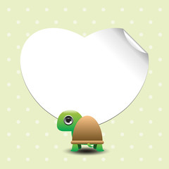 Cute cartoon turtles with place for text