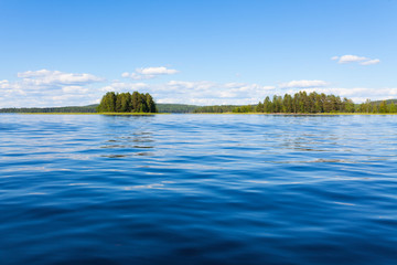 Photo sur Plexiglas Lac / Etang Finland lake scape at summer