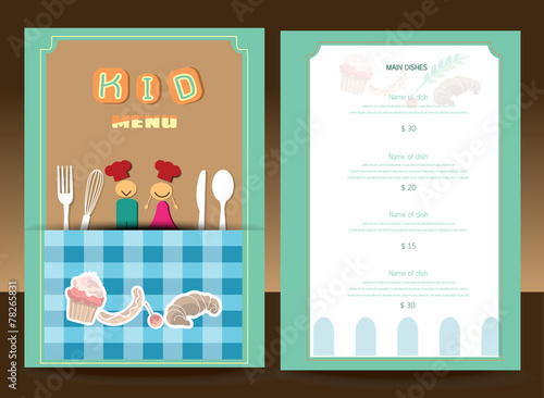 Kids menu Vector template image and royaltyfree vector – Free Kids Menu Templates