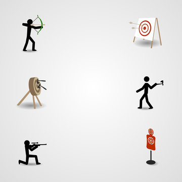 Shooting, archery and axe throwing