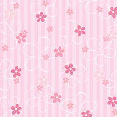 Karte Blumen muster rosa gestreift