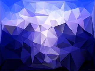 Polygon background blue