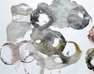 ink stains on white paper circles