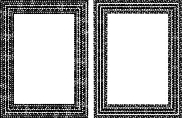 Pair of vector frames in tire traces style
