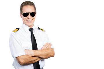 Confident pilot. Fototapete