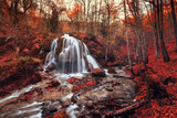 Silver Stream Waterfall (Autumn forest in Crimea)