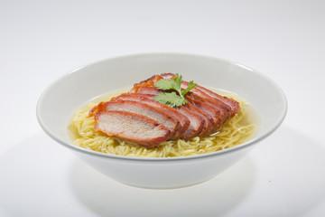 Egg noodle soup with pork