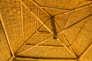 Interior of bamboo house
