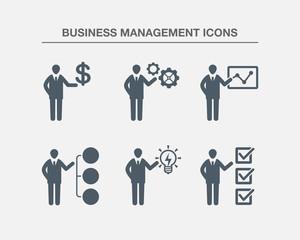 Business Management Icons 2 (Black white Version)
