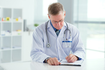 Male doctor at work