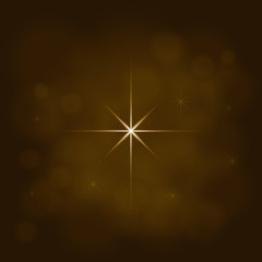 abstract star magic light sky bubble blur gold background