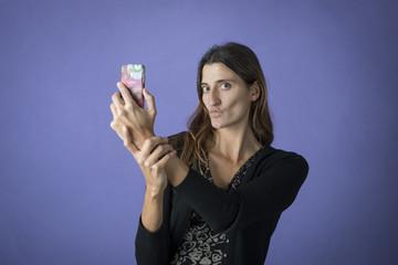 faccia da selfie