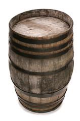 old vintage oak wine barrel