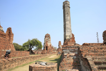 ancient temple at ayutthaya ,Thailand.