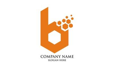 letter B hexagon logo