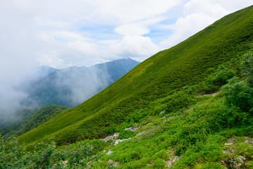 Mt.Senjo in the Southern Japan Alps, Nagano and Yamanashi, Japan