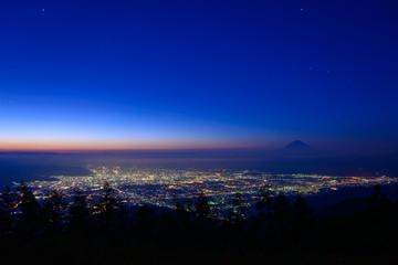 Kofu city and Mt.Fuji at dawn