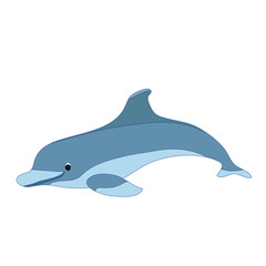 Illustration of a cartoon dolphin