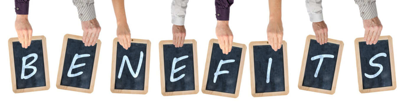 Word benefits on chalkboards
