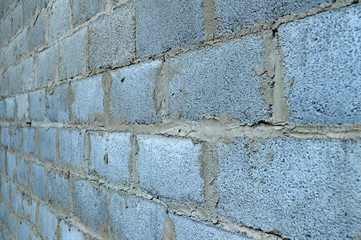 Old brick wall background perspective view