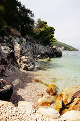 stone sea beach croatia