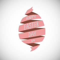 Spiral ribbon Easter egg