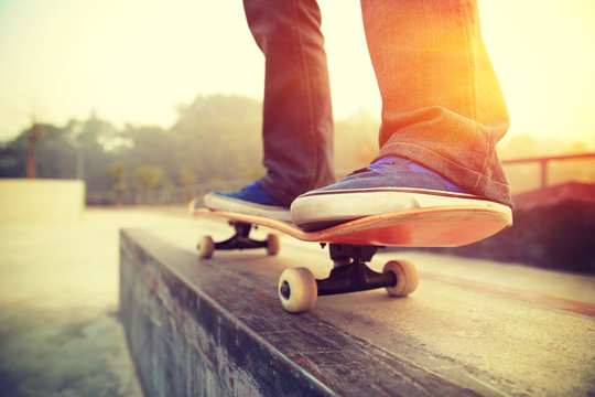 skateboarding legs