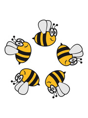 Bee funny sweet ring circle