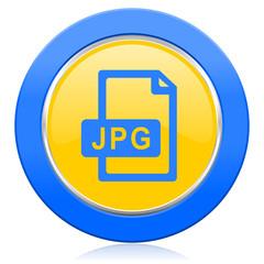 jpg file blue yellow icon