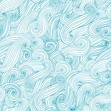 Seamless abstract waves background. Vector illustration.