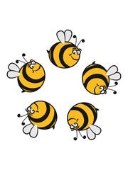 Bee funny thick circular ring